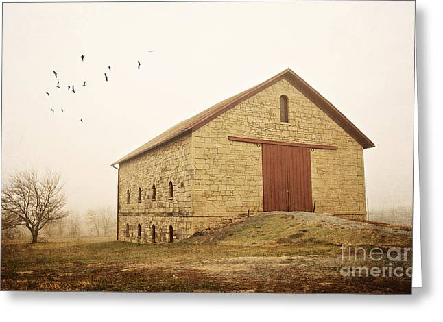 Filley Stone Barn 1 Greeting Card