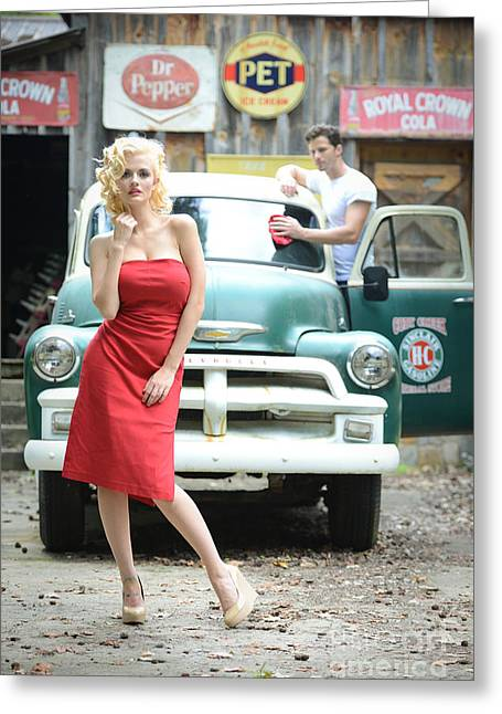 Filling Service Pinup Greeting Card by Jt PhotoDesign