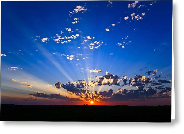 Crepuscular Dance - Filling Up The Evening Skies Analog Album Greeting Card by Cody Ervin