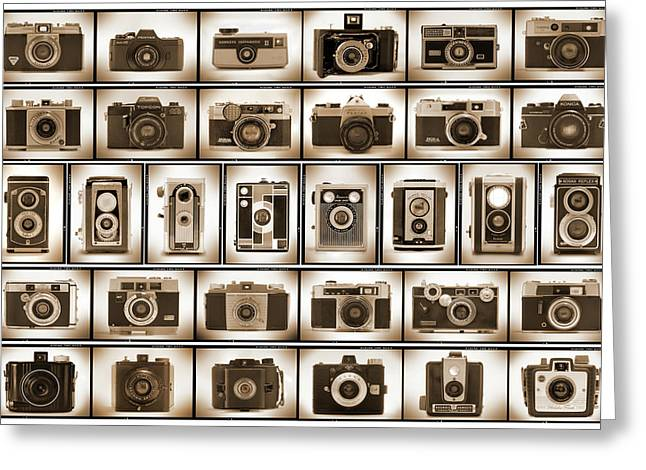 Film Camera Proofs Greeting Card by Mike McGlothlen