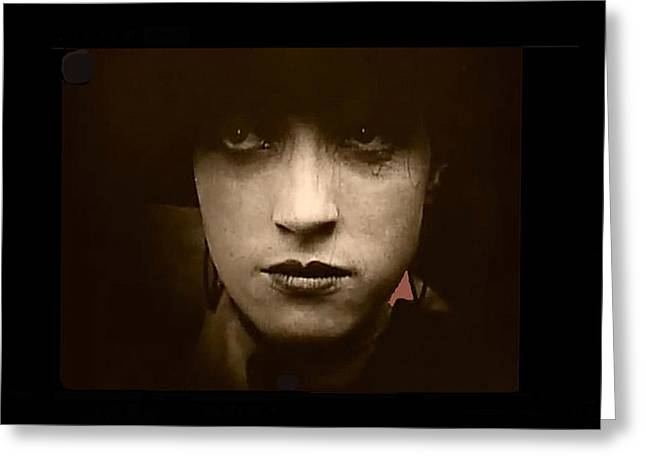 Film Homage Billy Bitzer Miriam Cooper Intolerance 1916 Screen Capture Color Added 2012 Greeting Card by David Lee Guss
