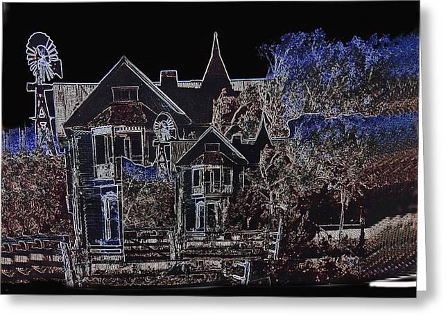 Film Homage The House Of Usher 1965 Hoyle's Castle White Oaks N.m. 1968-2012 Greeting Card