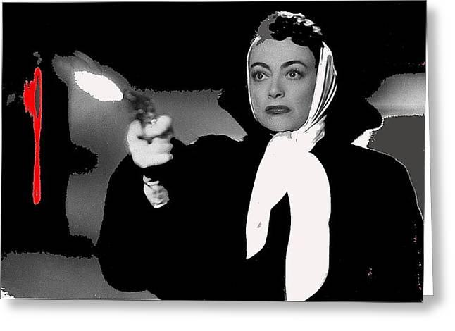 Film Noir Joan Crawford Jack Palance Sudden Fear 1952 Rko Publicity Photo Color Added 2012 Greeting Card