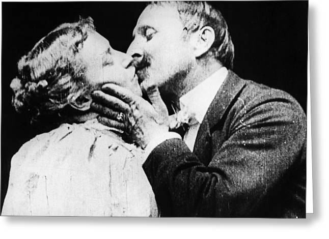 Film The Kiss, 1896 Greeting Card