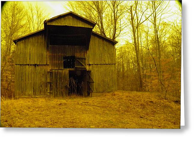 Greeting Card featuring the photograph Filtered Barn by Nick Kirby