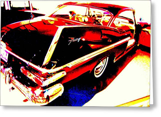 Fin Of Fury In A Plymouth Fashion Greeting Card by Don Struke