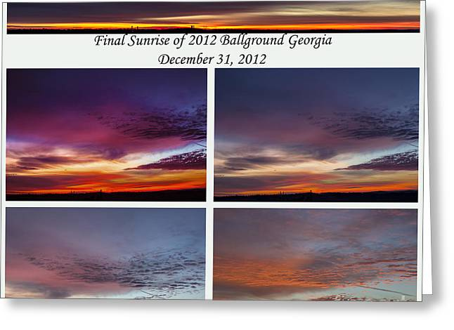 Final 2012 Sunrise Combo Greeting Card