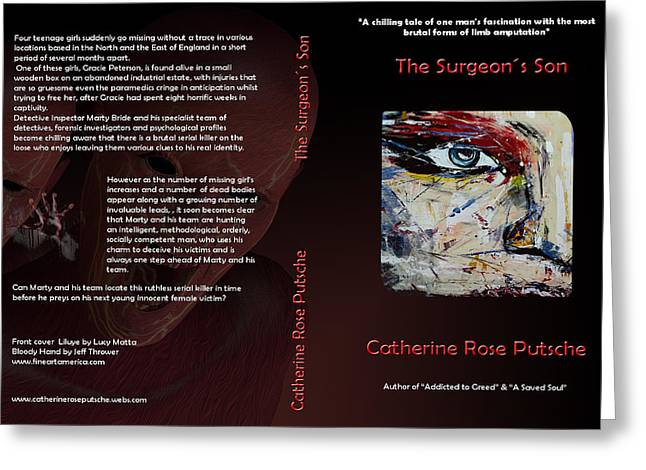 Final Book Cover The Surgeon S Son Published Now From The Book Cover Contest On Faa Greeting Card by Sir Josef - Social Critic -  Maha Art