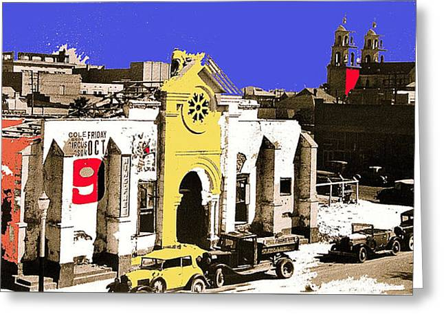 Final Days Of San Agustine Cathedral 1863-1936 Circus Poster Tucson Arizona 1936-2013 Greeting Card by David Lee Guss