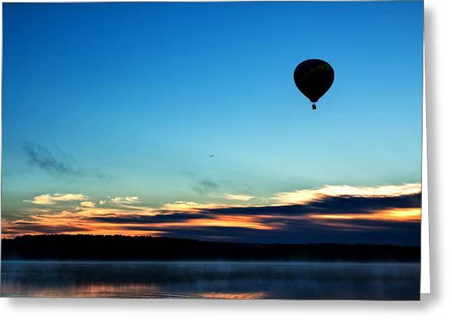 Final Flight - Hot Air Balloon Ride Greeting Card by Gary Smith