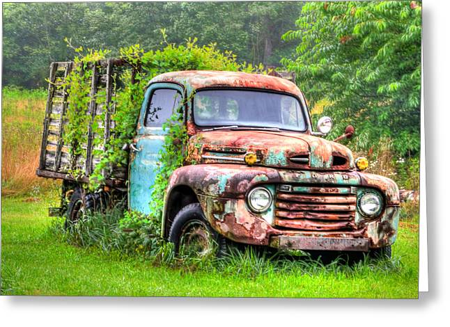 Final Resting Place - Ford Truck Greeting Card by Bill Cannon
