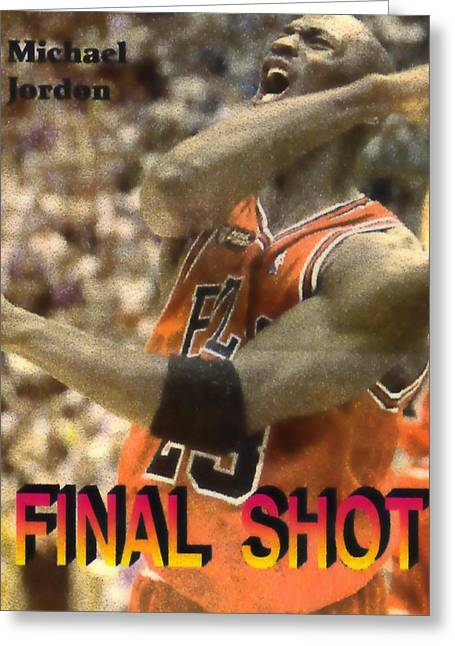 Final Shot Greeting Card by Pat Mchale
