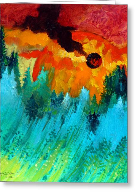 Final Sunset Greeting Card by  John Lautermilch