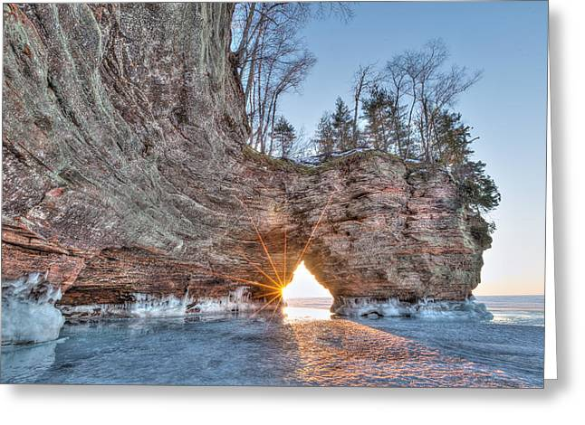 Final Sunset, Apostle Islands Greeting Card