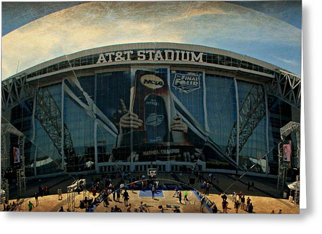 Finals Madness 2014 At Att Stadium Greeting Card by Stephen Stookey