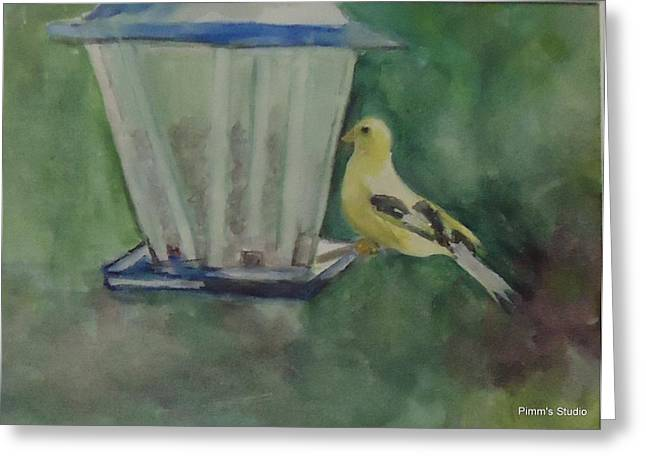 Finch Greeting Card by Betty Pimm