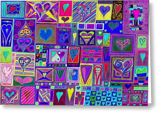 find U'r love found v4  Greeting Card by Kenneth James