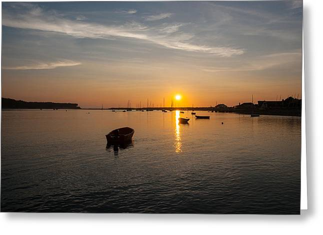 Findhorn Sunset Greeting Card