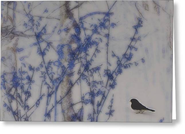 Finding His Way Greeting Card by Barbara S Nickerson