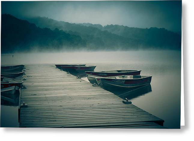 Finding Peace At The Lake Greeting Card by Shane Holsclaw