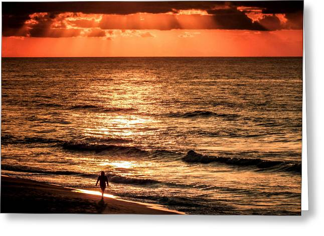 Finding Peace On Earth Greeting Card by Karen Wiles