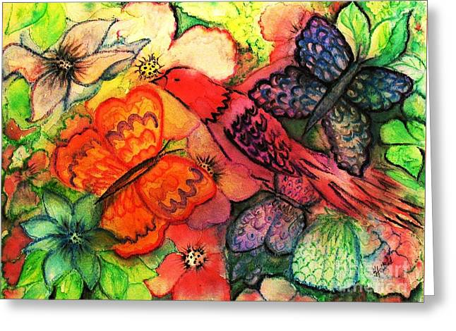 Greeting Card featuring the painting Finding Sanctuary by Hazel Holland