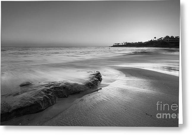 Finding Serenity Bw Greeting Card by Michael Ver Sprill