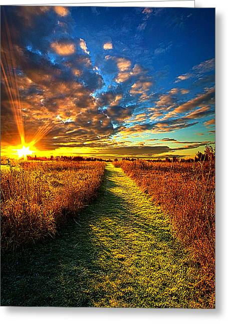 Finding The Way Greeting Card by Phil Koch