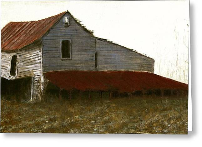 Fine Art Oil Painting North Carolina Barn Greeting Card