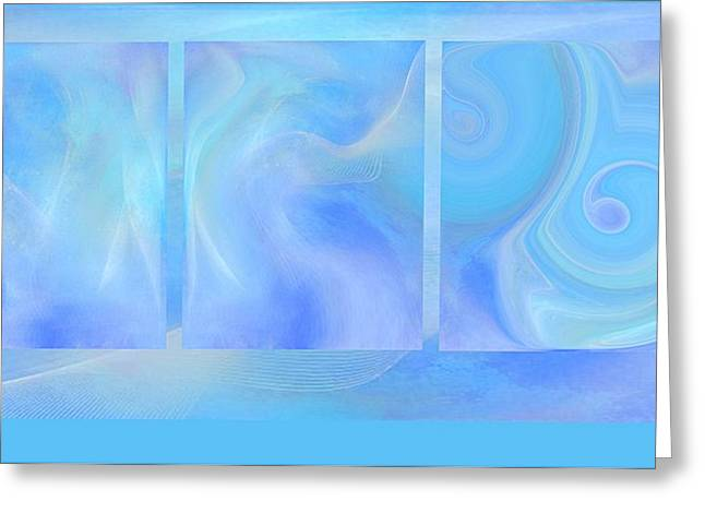 Fine Art Original Digital Abstract Untitled1bb4 As Blue Greeting Card