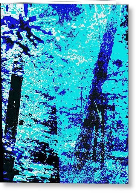 Fine Art Original Digital Forest Scene Maryland Greeting Card