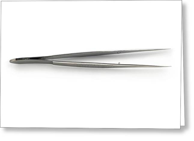 Fine-pointed Forceps Greeting Card by Science Photo Library