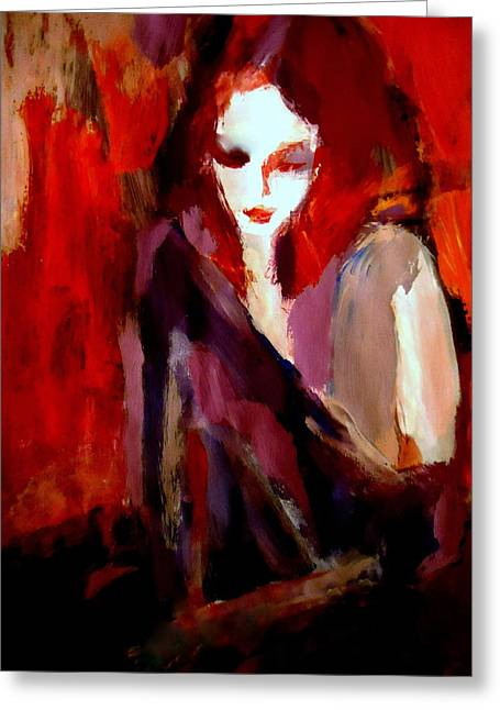 Greeting Card featuring the painting Finesse by Helena Wierzbicki