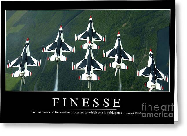Finesse Inspirational Quote Greeting Card by Stocktrek Images