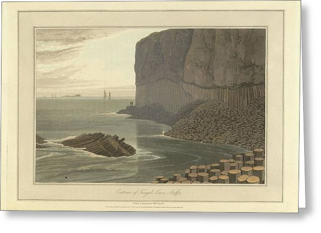Fingal's Cave On Staffa Greeting Card by British Library