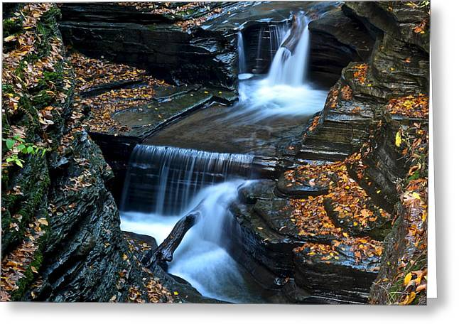 Finger Lakes Waterfalls Greeting Card