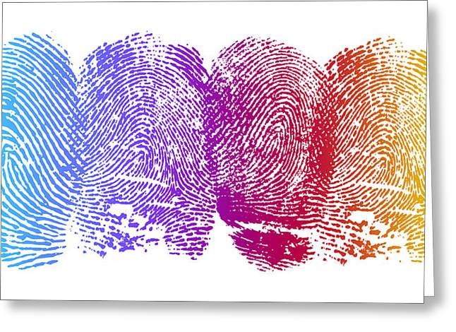 Finger Prints Greeting Card by Aged Pixel