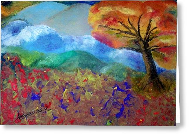 Fingerpainting Greeting Card by Annamarie Sidella-Felts