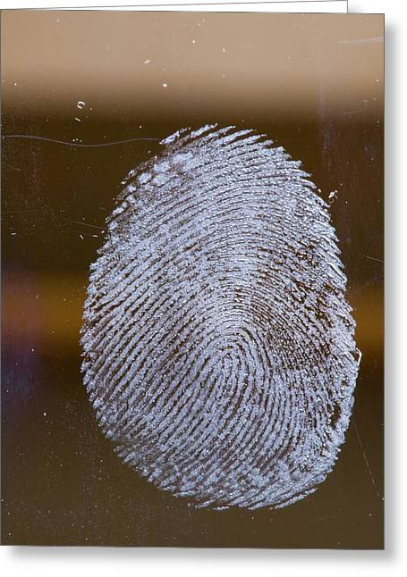 Fingerprint On Glass Greeting Card