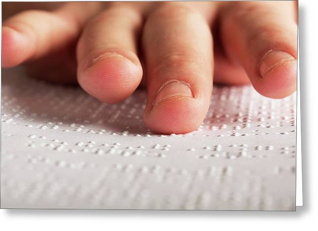 Fingers Touching Braille Greeting Card