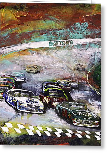 Finish Line Greeting Card by Gray  Artus