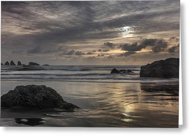 Finishing The Day Greeting Card by Jon Glaser