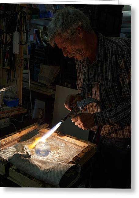 Finishing Touches  Greeting Card by Paul Indigo