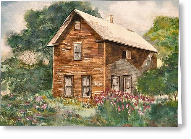 Finlayson Old House Greeting Card by Susan Crossman Buscho