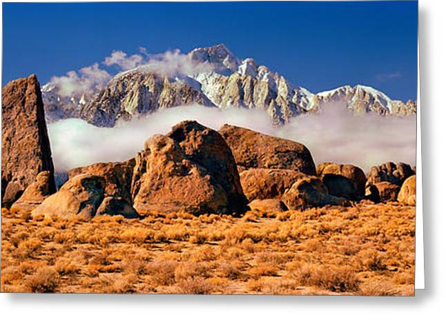 Finn Rock Formations, Alabama Hills, Mt Greeting Card by Panoramic Images