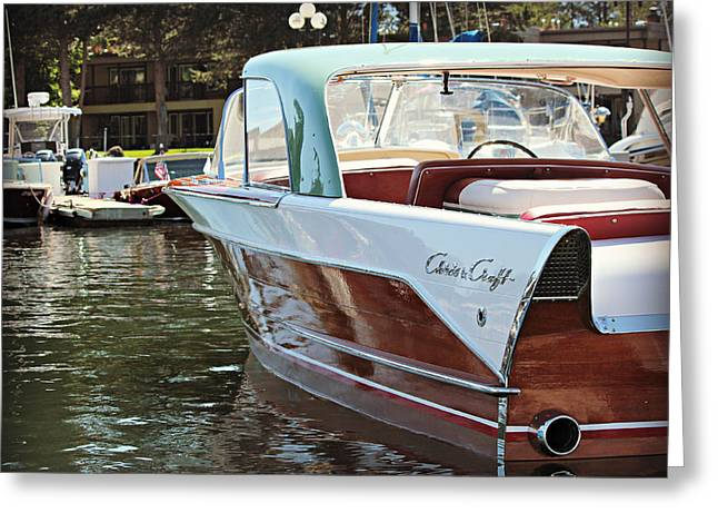 Finned Chris Craft Greeting Card