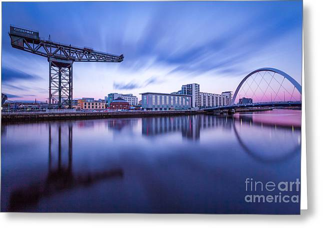 Finnieston Crane And Glasgow Arc Greeting Card by John Farnan