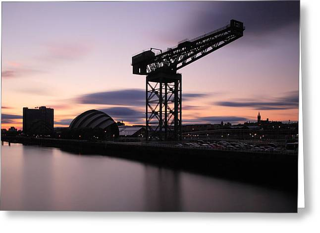 Finnieston Crane Glasgow  Greeting Card by Grant Glendinning
