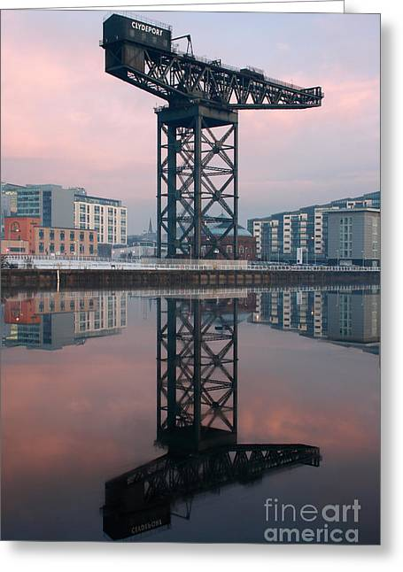 Finnieston Crane Reflections Greeting Card