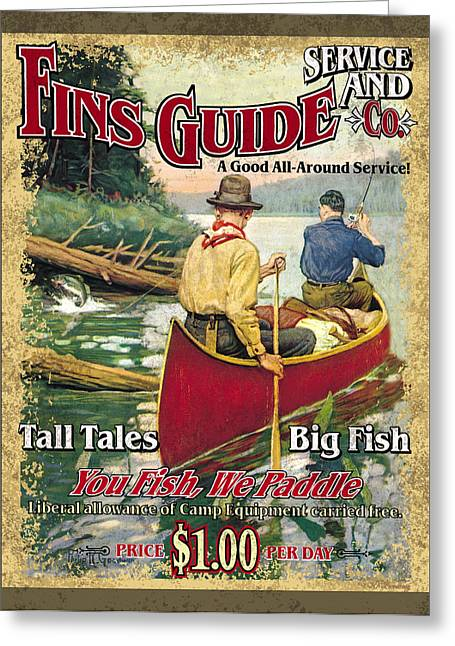Fins Guide Service Greeting Card by JQ Licensing